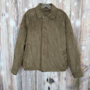 Claiborne Outerwear Men's Suede Zip Up Jacket